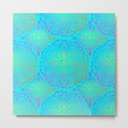 Vibrant, colourful mandala Metal Print
