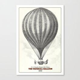 The Vauxhall balloon (1850) Canvas Print