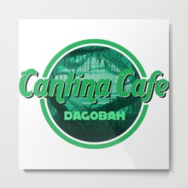 Cantina Cafe Dagobah Metal Print