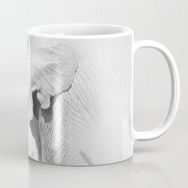 Elephant | Animal Photography | B&W | Nature | Fog | Wildlife | Abstract | Landscape Coffee Mug