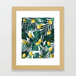Tropical Lemon Twist Jungle #1 #tropical #decor #art #society6 Framed Art Print