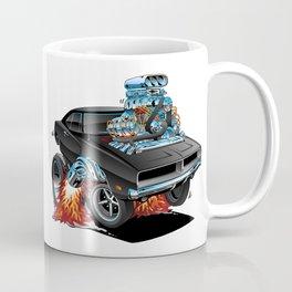 Classic 69 American Muscle Car Cartoon Coffee Mug
