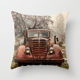 Abandoned Truck, Palomar Mountain Throw Pillow