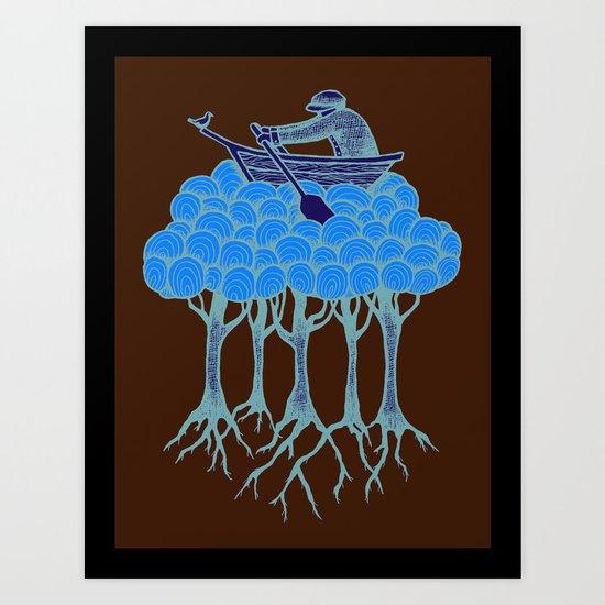 Sailing the High Trees Art Print