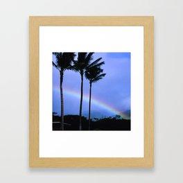 Island-Style Rainbow Across Kauai, Hawaii Framed Art Print