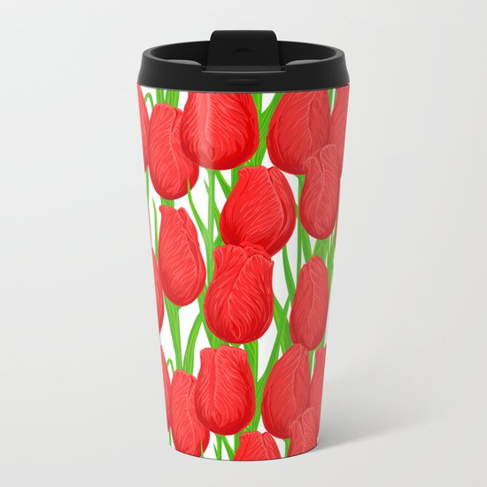 Tulips Metal Travel Mug