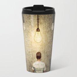 glowing lightbulb Travel Mug