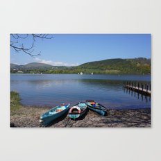 The Lake District - Boating on the Lake Canvas Print