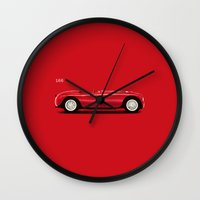 ferrari Wall Clocks featuring Ferrari 166 by Mark Rogan