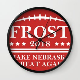 Make Nebraska Great Again Wall Clock