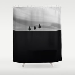 Floating Trees Shower Curtain