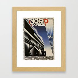 Vintage poster - Nord Express Framed Art Print