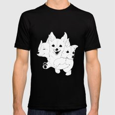 Corgerberus Mens Fitted Tee SMALL Black