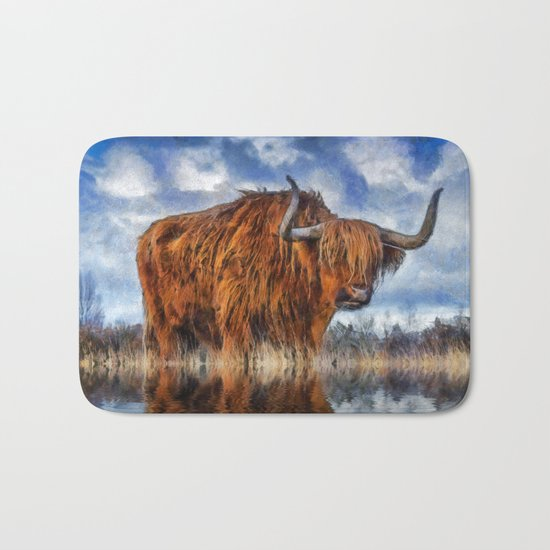 Meadow Bull Bath Mat