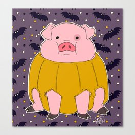 Pumpkin Waddles! Canvas Print