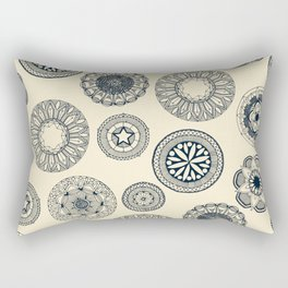 mandala cirque spot cream Rectangular Pillow