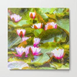 Water Lilys Art Metal Print