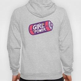 Girl Power Pattern in Purple Hoody