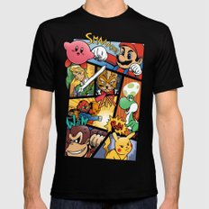 Dairanto Smash Bros Black MEDIUM Mens Fitted Tee