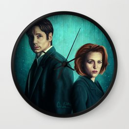 Mr. and Mrs. Spooky Wall Clock