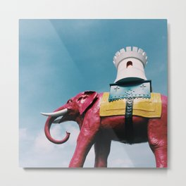 Elephant and Castle Metal Print