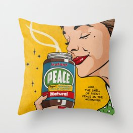 Instant Peace Throw Pillow