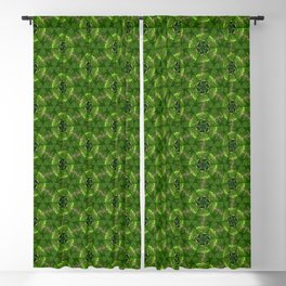 Green Molecules Blackout Curtain