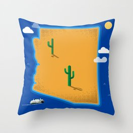 Arizona Island Throw Pillow