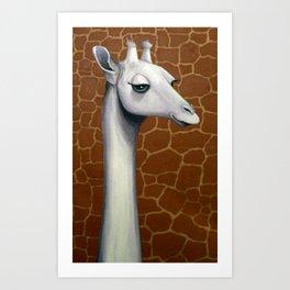 Naked Giraffe Art Print