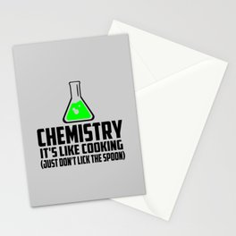 Chemistry funny quote Stationery Cards