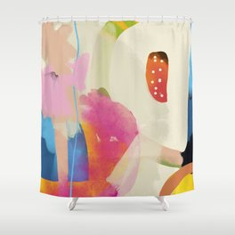 the window to my garden - minimal color abstract modern art Shower Curtain