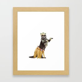 Otter the Hawaiian Dancer Framed Art Print