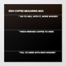 Irish Coffee Measuring Mug Canvas Print