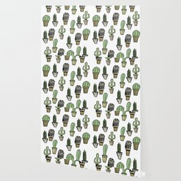 Cactus and Owl Wallpaper