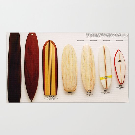 Surfboard Evolution Rug