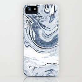 Kiyomi - spilled ink japanese monoprint marble paper marbling art print cell phone case with marble iPhone Case