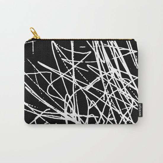 Daisy Scribble Black Carry-All Pouch