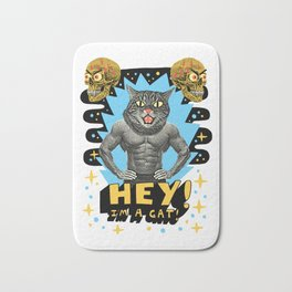 Hey! I'm a cat! Bath Mat