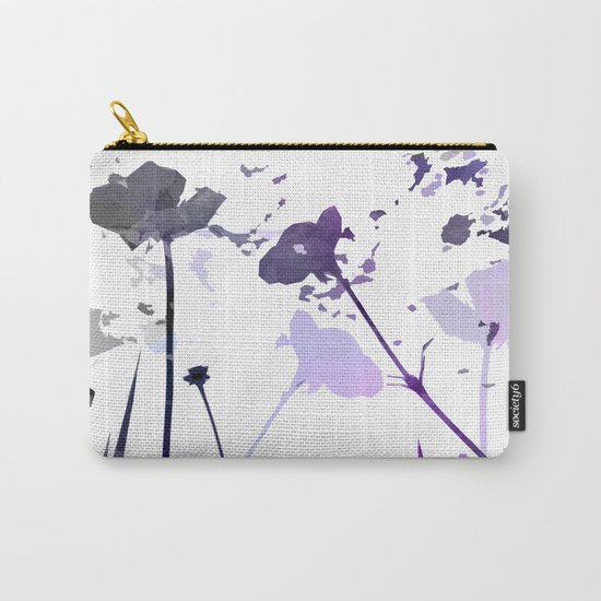Field of Flowers Indigo Carry-All Pouch