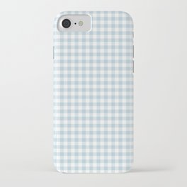 Baby Blue Gingham Check iPhone Case