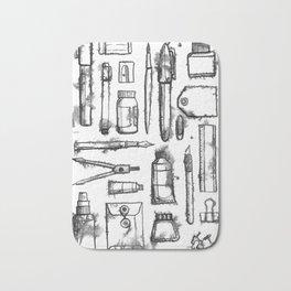 Bleeding Ink Collections - Art Supplies Bath Mat