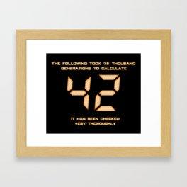 42: The Answer Framed Art Print