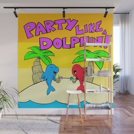 Party Like a Dolphin Wall Mural