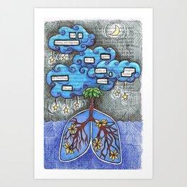 Seven. Art Print
