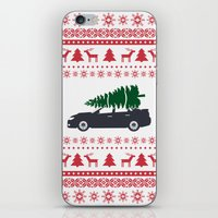 subaru iPhone & iPod Skins featuring Happy Holidays - Subaru Christmas Sweater by E. Phillips - Creative Designer
