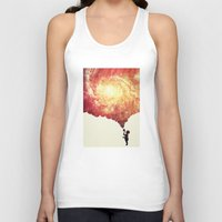 geology Tank Tops featuring The universe in a soap-bubble! (Awesome Space / Nebula / Galaxy Negative Space Artwork) by badbugs_art