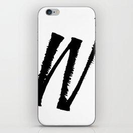Letter W Ink Monogram iPhone Skin