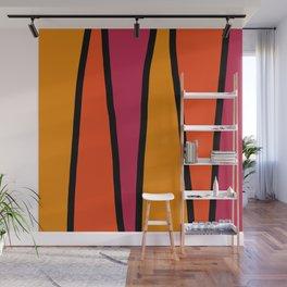 Orange Saw Wall Mural