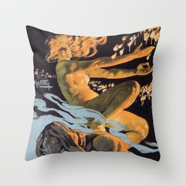Italian society for the hygienic matches without phosphorus Throw Pillow