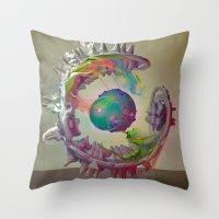 archan nair Throw Pillows featuring Korah by Archan Nair